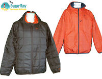 NIKE AD Athletic Dept Mens Reversible Thermore Quilted Jacket Black Orange M
