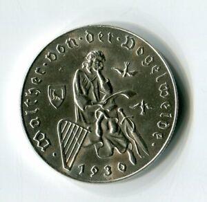 2 Schilling Österreich 1930 700 Todest. Walther von der Vogelweide Silber M_1237
