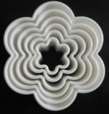 Set of 6 Flower Shape Cookie Cutters