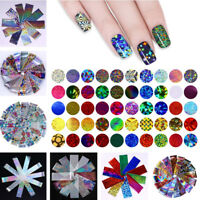 10/20Pcs Nail Art Foils Holographic Shimmer Colorful Gradient Starry Sky Sticker