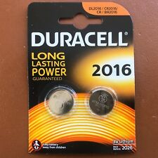 2 x DURACELL CR2016 Batteria A Bottone Al Litio 3 V 2016 DL2016 BR2016 SB-T11