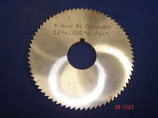 """2 3/4"""" x 0.093"""" x 0.750"""" Slitting Saw / Cutter Made in England - As Photo"""
