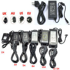 2A 3A 5A 8A 10A 12.5A Adapter Netzteil für LED + Kabel DC 12V Power US EU UK AU