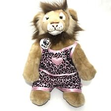 "Build a Bear 14"" Lion Pink Brown Outfit Jungle Cat WWF Medallion Plush Retired"