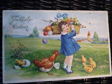 Postkarte Osterkarte fröhliche Ostern von 1939 gelaufen deutsches Reich RAR