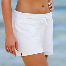 Womens Plus Size Plain Swim Shorts Bikini Swimwear Boy Style Short Brief Bottoms