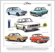 FORD CORTINA Mk2 1966-70 Fine Art Print - 1600E Lotus-Cortina Savage Mark 2 MkII