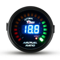 2'' 52MM 20 LED CAR DIGITAL AIR FUEL RATIO MONITOR RACING GAUGE METER ANALOG