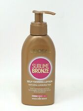 L'Oréal Sublime Bronze Self Tanning Lotion Medium Face Body Natural Look 150ml