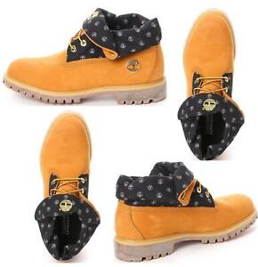Timberland Mens Earthkeepers Boots AF Roll Top Casual Boots Wheat
