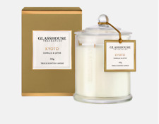 Glasshouse 350g Triple Scented Candle Kyoto Camellia Lotus Home Scent