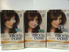 3 x Clairol Nice n Easy 5N 118A Natural Medium Neutral Brown Hair Color 100% cov