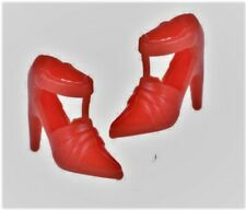 1/6 Barbie Doll Red T-Strap High Heels Pumsp Shoes