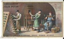Chromo Félix Potin Fabrication champagne eonologie vin wine raison tonneau cave
