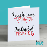 Distance Relationship Card Birthday Valentines Day Anniversary Miss You Him Her