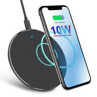 Qi Wireless Charger Fast Charging Pad for iPhone 11 Pro Max Xs Samsung S10 Plus