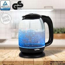 Grafner® Wasserkocher 1,7 Liter LED Glas 2200W Temperaturwahl BPA Frei kabellos