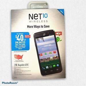 Net10 Wireless ZTE Rapido LTE Cellular Smartphone BRAND NEW SEALED ZTE Z932L