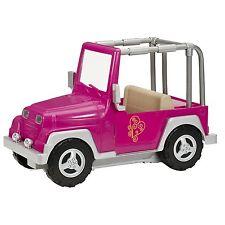"""Pink Jeep Battat Our Generation OG 18"""" American Girl Doll comp camper car 4X"""