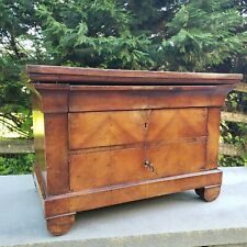 Antique Salesman Sample Miniature Chest of Drawers Dovetailed Inlaid Escutcheon