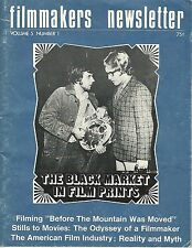 Oct, 1971 Filmmakers Newsletter~American Film Industry:Reality and Myth