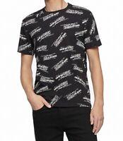 Calvin Klein Mens T-Shirts Black Size Large L Crewneck Logo Graphic Tee $39 369
