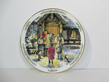 Royal Doulton Plate Christmas Carolling Vintage 1989 Holiday Cookie Plate