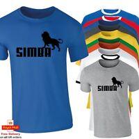 Mens Amusing Lion King SIMBA Funny T shirt Great Gift Idea