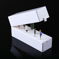 30 Holes Nail Drill Bit Holder Box Display Storage Container Stand Manicure Tool