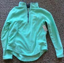 Brand New -  Made of Life - Juniors Fleece Green Long Sleeve Shirt - Size M