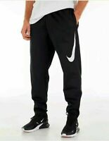 NWT Men's Nike Therma Swoosh Basketball Pants Black White AQ2715-010