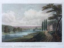 1830 Antique Engraved Print Schenectady New York Hudson Mohawk River Albany Fine