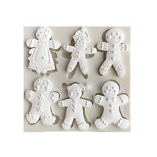 Silicone Christmas Gingerbread Man Fondant Mold Cake Sugarcraft Baking Mould DIY