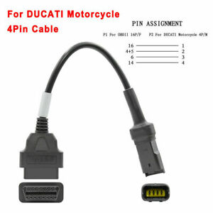 4 Pin to 16 Pin OBD2 Connector Diagnostic Cables Adapter for Ducati Motorcycle