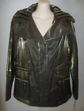 Hilary Radley Olive Khaki Green Shimmer Jacket XS New