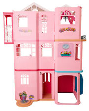 Barbie Doll Dream House 3 Storey Play Set With Elevator and Furniture 4ft Tall
