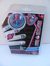 Monster High Ghoulicious Nails   10 stick on nails mostly skulls     New In Pack
