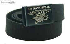 Custom Made Quality U.S. Navy Seals Canvas Web Belt and Buckle