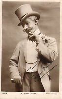 early 1900s postcard : mr george graves .signed photo card !