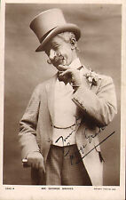 More details for early 1900s postcard : mr george graves .signed photo card !