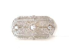 Art Deco Diamond .75 ct Platinum 14kt YG Filigree Pin Brooch – GAL Appraisal