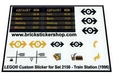 Lego® Custom Pre-Cut Transparant Sticker for Train set 2150 - Train Station