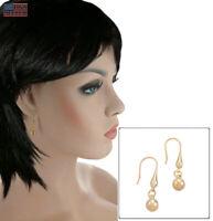 """Pierced Earrings Yellow Gold Tone Double Teardrop Dangle 1 1/4"""""""
