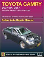 Toyota Camry and Avalon & Lexus ES 350 Haynes Repair Manual (2007-2017)