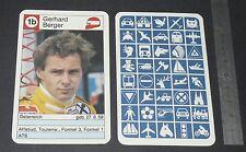 CARTE COUREUR AUTOMOBILE 1984 FORMULE 1 GRAND PRIX F1 GERHARD BERGER ATS