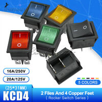 1/2/5PCS KCD4 DPST DPDT 4/6PIN 2/3 Position Rocker Switch ON/OFF 16A/30A 250V