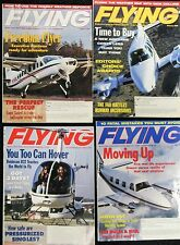 Lot of 4 FLYING magazines - January, February, March & April, 2002
