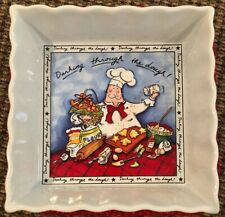 0000023E Mud Pie Dashing Through The Dough Brownie Baking Dish And Holder Holiday