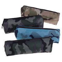 Trousse à crayons en toile camouflage scolaires militaires pour les hom LTA