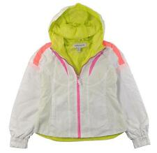 London Fog Big Girls White Hooded Windbreaker Jacket Size 7/8 10/12 14/16